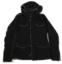 Load image into Gallery viewer, Shellac Raw Edge Pinstripe Parka Jacket - M