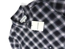 Load image into Gallery viewer, Solid Homme Check Shirt Black/White Size 46