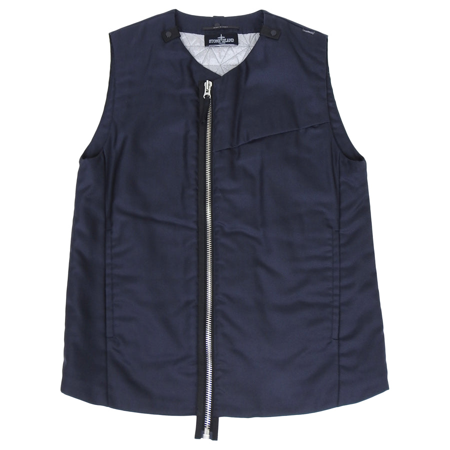 Stone Island Shadow Project Black Nylon Zip Vest