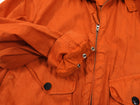 Stone Island Orange Canvas Zip Up Jacket - L