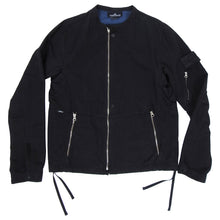 Load image into Gallery viewer, Stone Island Shadow Project Black Moto Style Zip Up Jacket