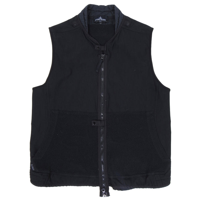 Stone Island Shadow Project Black Mesh Canvas Modular Vest - L