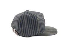 Load image into Gallery viewer, Supreme Navy Green Stripe Strapback Cap Hat