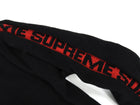 Supreme Black and Red Logo Stripe Pullover Sweater - M