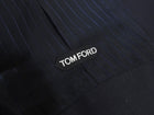 Tom Ford Slim Fit 3 Piece Navy Striped Suit - 42