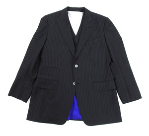 Tom Ford Black Pinstripe Three Piece Suit