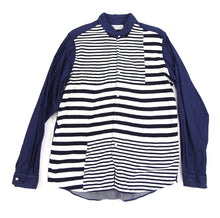 Load image into Gallery viewer, Tomorrowland Tricot Blue and White Denim Knit Stripe Shirt