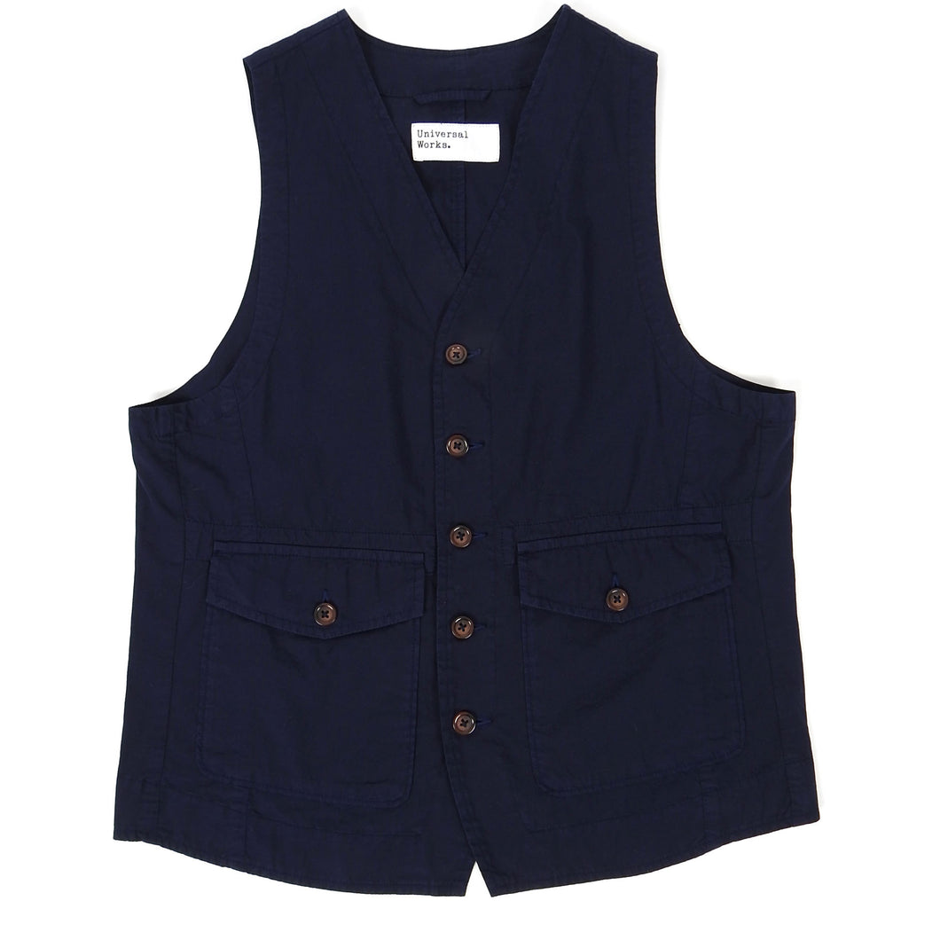 Universal Works Vest Navy Small