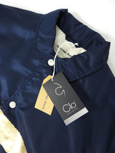 Load image into Gallery viewer, Universal Works Clo Insulated Coach Jacket Navy/Gold Medium