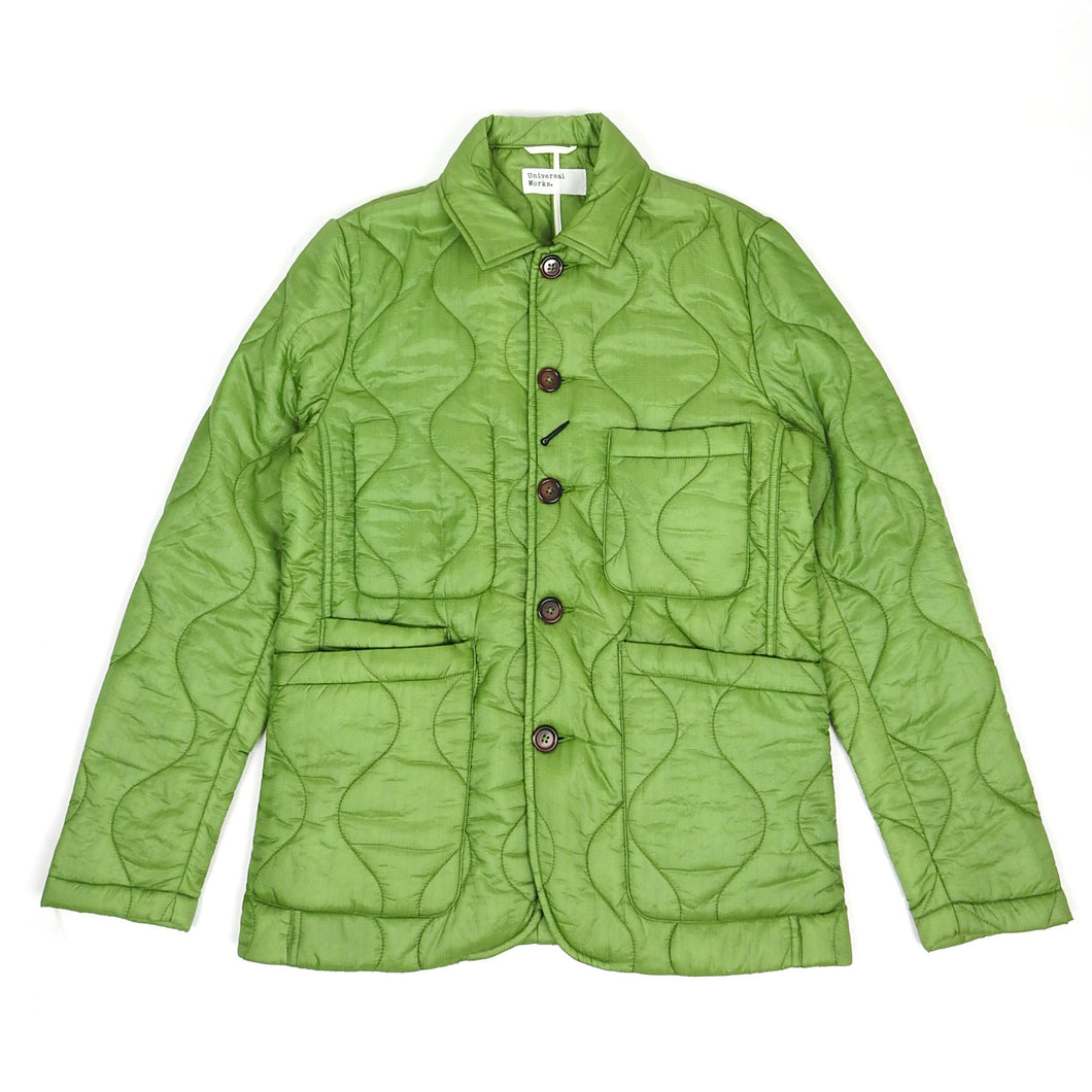 Universal Works Quilted Bakers Jacket Green Medium