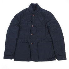 Load image into Gallery viewer, Universal Works Reversible Padded Bakers Jacket Navy Medium