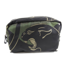 Load image into Gallery viewer, Valentino Olive Camouflage Rockstud Panther Toiletry Bag