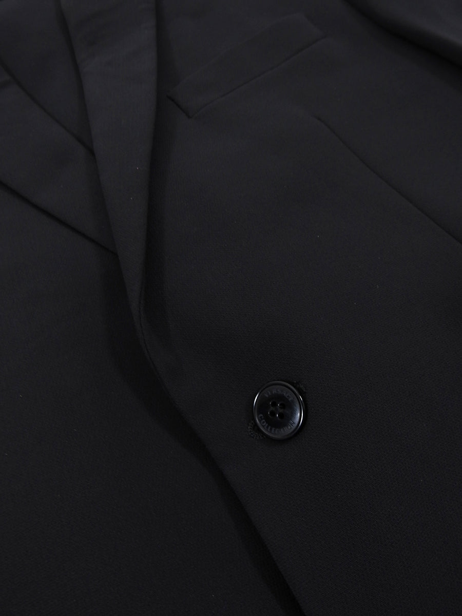 Versace Collection By Gianni Versace Two Piece Wool Blend Black Suit - 38