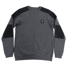 Load image into Gallery viewer, Versace Jeans Fall 2013 Grey and Black Sweater With Silver Logo - M