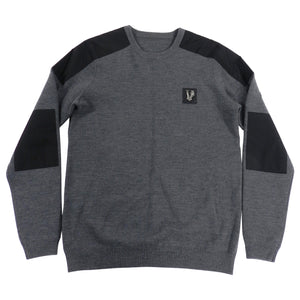 Versace Jeans Fall 2013 Grey and Black Sweater With Silver Logo - M
