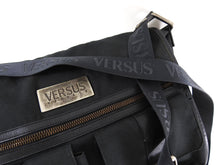 Load image into Gallery viewer, Versus by Gianni Versace Black Canvas Messenger Bag