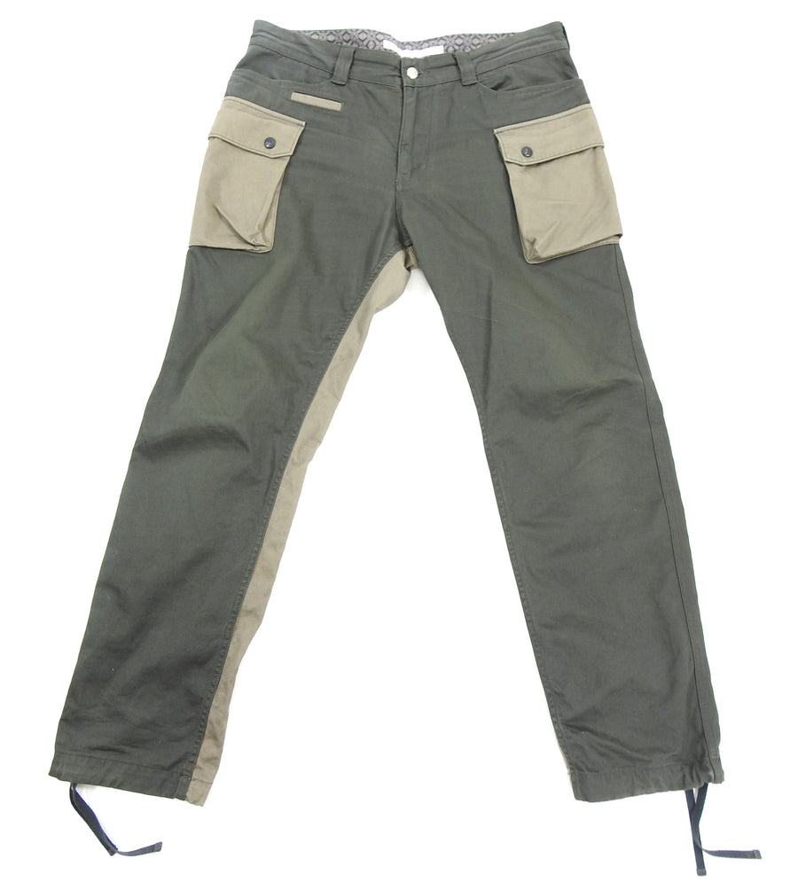 White Mountaineering 2015 AW Olive Green Cargo Trousers
