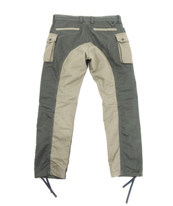White Mountaineering 2015 AW Olive Green Cargo Trousers - M