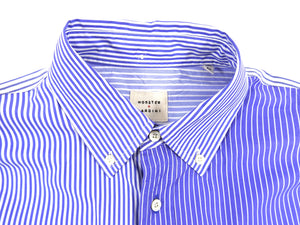 Wooster x Lardini Blue Pinstripe Panel Cotton Shirt - M