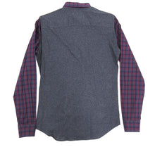 Load image into Gallery viewer, Z Zegna Burgundy and Grey Button Down Shirt - M
