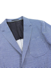 Load image into Gallery viewer, Z Zegna Blue and White Knit Check Wool Blend Blazer - 38