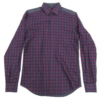 Load image into Gallery viewer, Z Zegna Burgundy and Grey Button Down Shirt