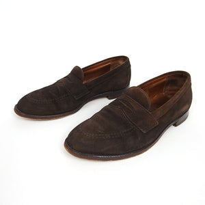Alden Brown Suede Penny Loafer 9.5
