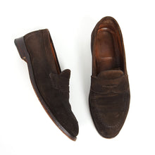 Load image into Gallery viewer, Alden Brown Suede Penny Loafer 9.5