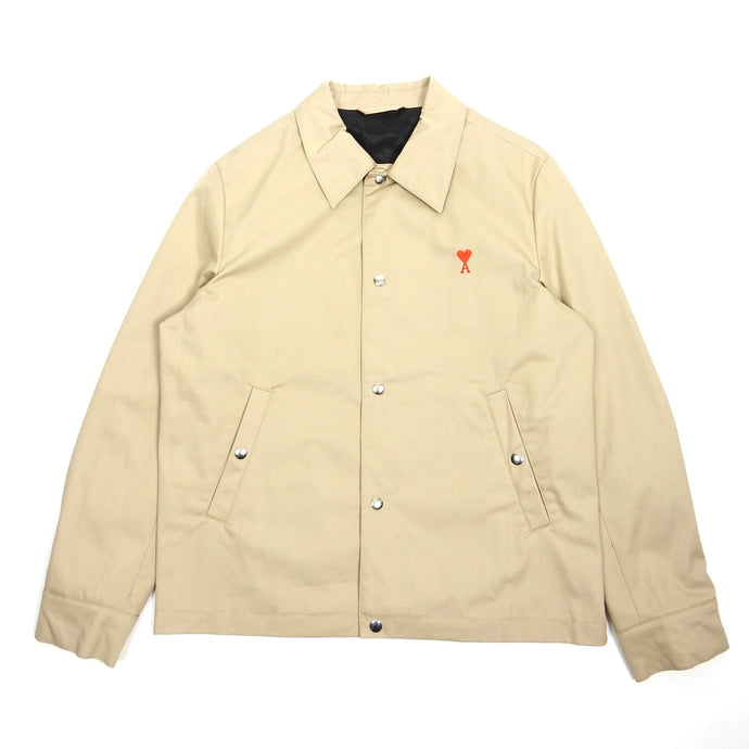 AMI Beige Heart Coach Jacket Medium