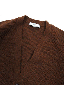 AMI Tobacco Wool Cardigan Medium