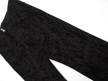Load image into Gallery viewer, Ann Demuelemeester Black Textured Velvet Trousers Size XS
