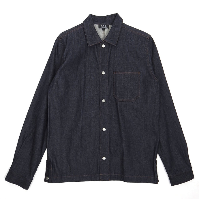 A.P.C. Denim Snap Button Shirt Medium