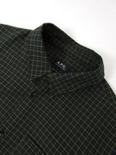 Load image into Gallery viewer, A.P.C. Check Button Up Green XL