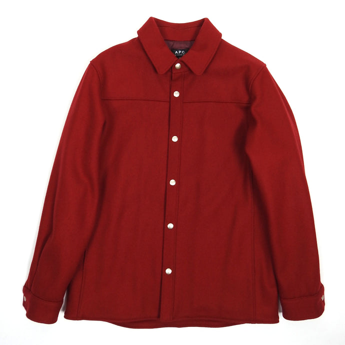 A.P.C. Red Quilted Wool Jacket Medium