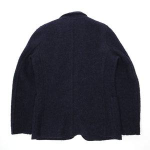 Aspesi Navy Boiled Wool Jacket Large