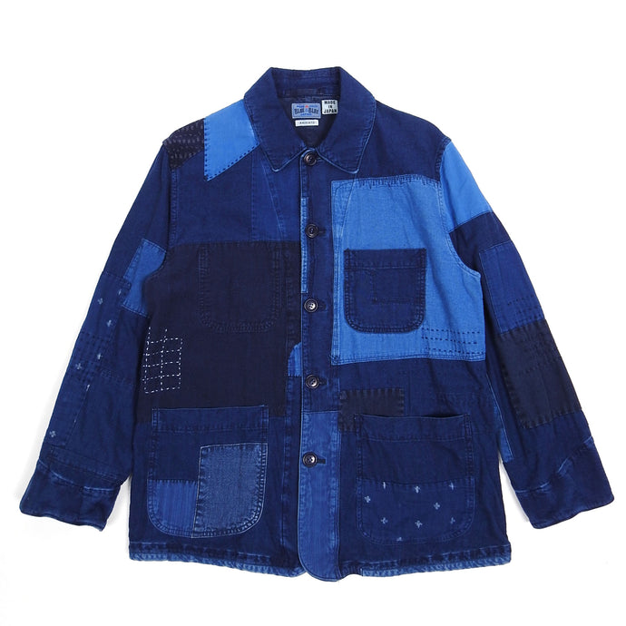 Blue Blue Japan Indigo Patchwork Jacket Large