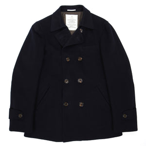 Brunello Cucinelli Navy Wool/Cashmere Insulated Peacoat Size 50