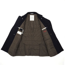 Load image into Gallery viewer, Brunello Cucinelli Navy Wool/Cashmere Insulated Peacoat Size 50