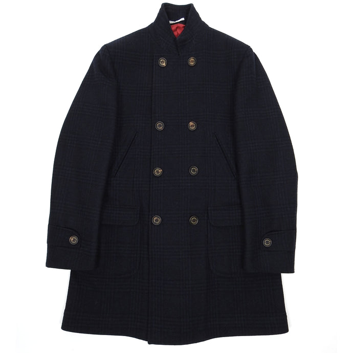 Brunello Cucinelli Navy Wool Coat Size 50