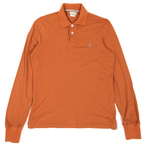 Brunello Cucinelli Longsleeve Polo Orange Small