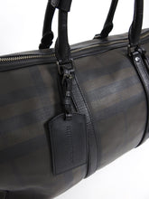 Load image into Gallery viewer, Burberry Check Duffle Bag Black/Brown