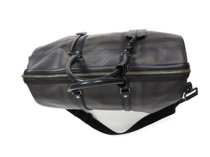 Burberry Check Duffle Bag Black/Brown