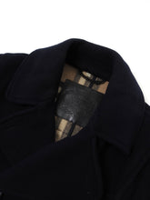 Load image into Gallery viewer, Burberry Navy Wool Peacoat Large