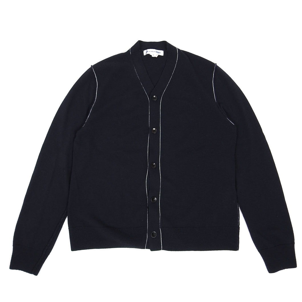 CDG Shirt Cardigan Navy Medium