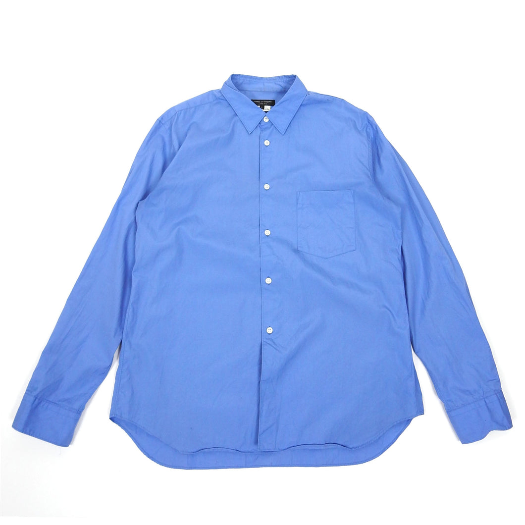 Comme Des Garcons Homme Plus Blue Button Up Large