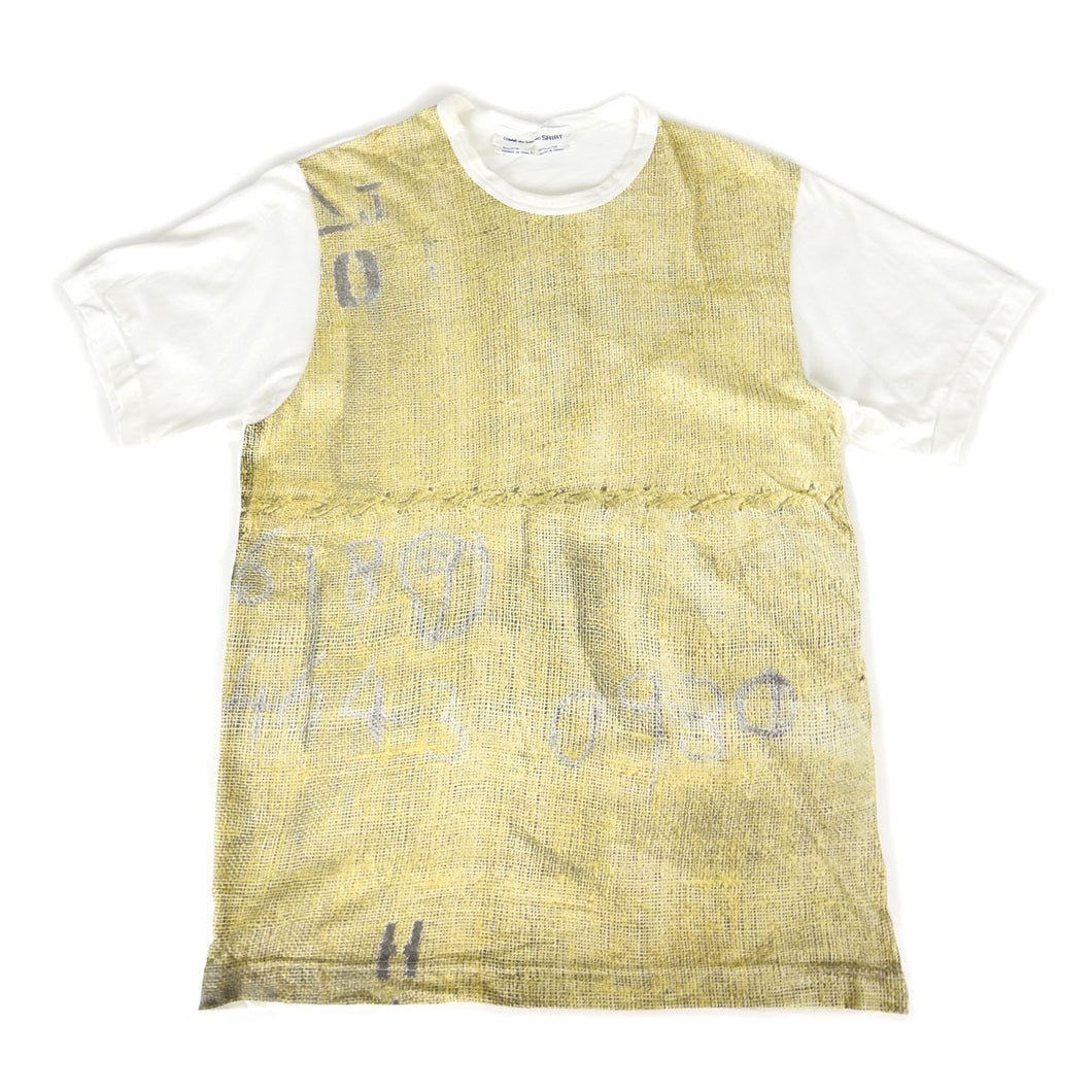 CDG Shirt Graphic Tee Yellow Large