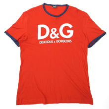 Load image into Gallery viewer, Dolce & Gabbana Delicious & Gorgeous Red T-Shirt Fits Medium
