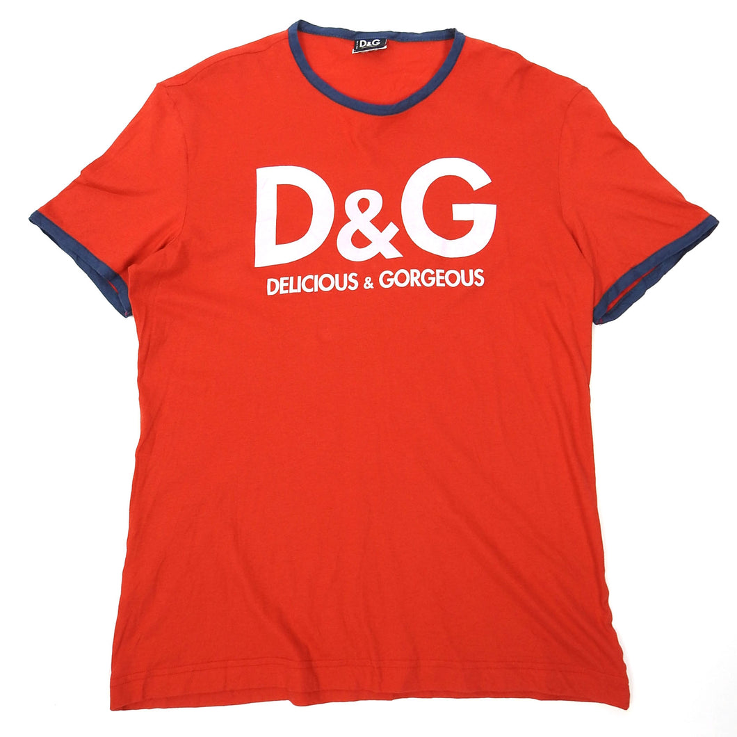 Dolce & Gabbana Delicious & Gorgeous Red T-Shirt Fits Medium