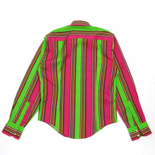 Load image into Gallery viewer, Dolce & Gabbana Green/Pink Striped Shirt Size 39 (48)