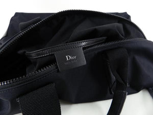 Christian Dior Homme Pre-fall 2017 New Wave black nylon zip top tote bag